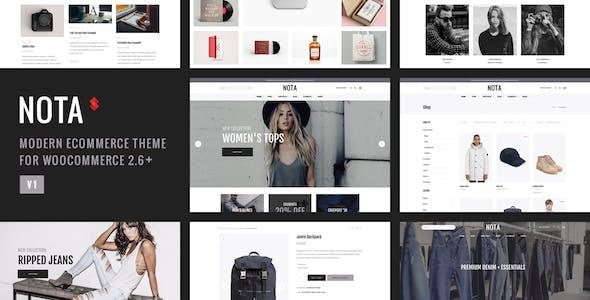 Nota - Creative Multi-Purpose eCommerce Theme