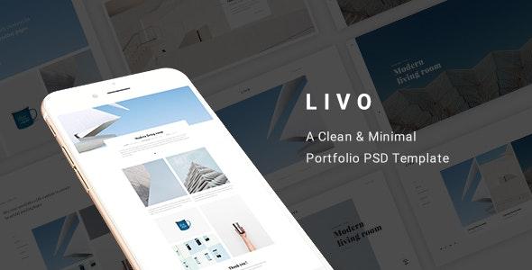 Livo - A Clean & Minimal Portfolio PSD Template - Portfolio Creative