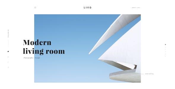 Livo - A Clean & Minimal Portfolio PSD Template
