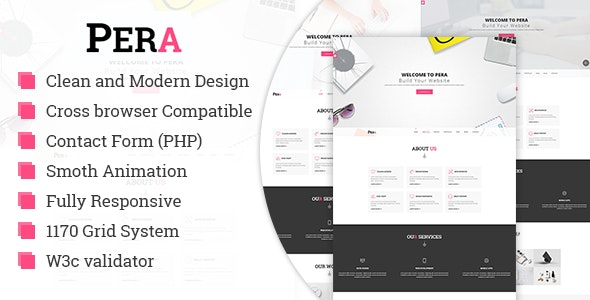 Pera - HTML5 Responsive Agency Template - Corporate Site Templates
