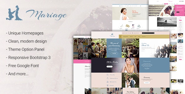 Mariage – Wedding WordPress Theme