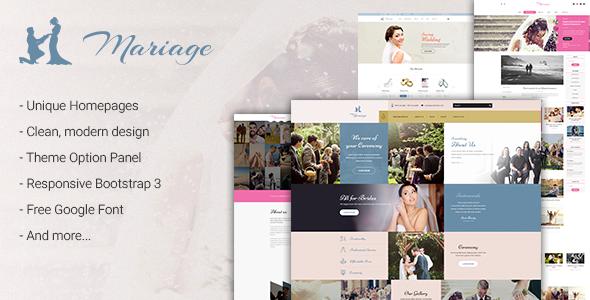 Mariage - Wedding WordPress Theme - Wedding WordPress
