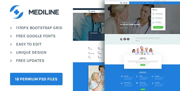 Mediline : Medical & Health PSD template - Health & Beauty Retail