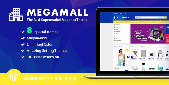 MegaMall - Creative Shopping Center Magento Theme - Shopping Magento