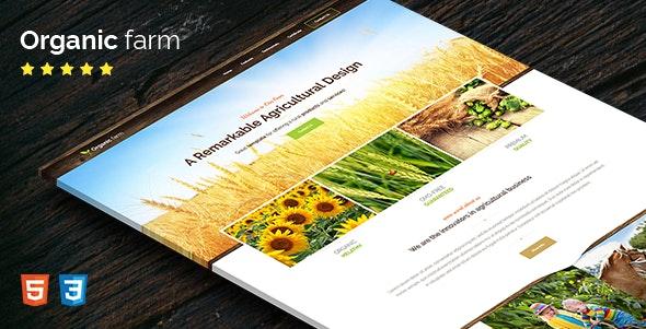 Organic Farm - HTML Template - Retail Site Templates