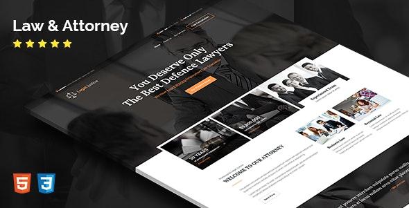 Legal justice - HTML Template - Corporate Site Templates