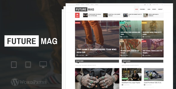 FutureMag - WordPress Magazine / News Theme - Blog / Magazine WordPress