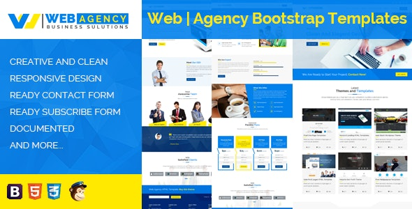 Web | Agency HTML Bootstrap Template - Business Corporate