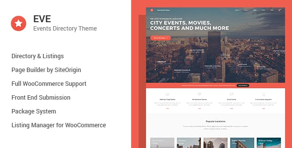 EVE - Events Directory WordPress Theme