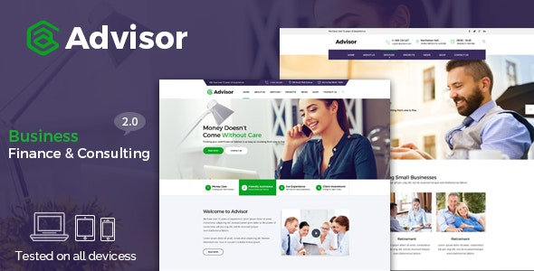 Advisor | Consulting, Business, Finance Template - Business Corporate
