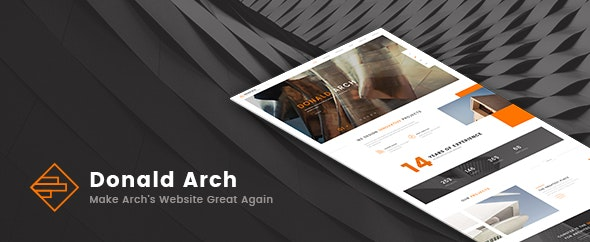 Donald Arch - Make Architecture PSD Great Again - Creative PSD Templates