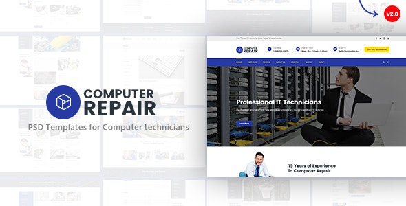 Computer Repair - PSD Templates for Computer Technicians - Business Corporate