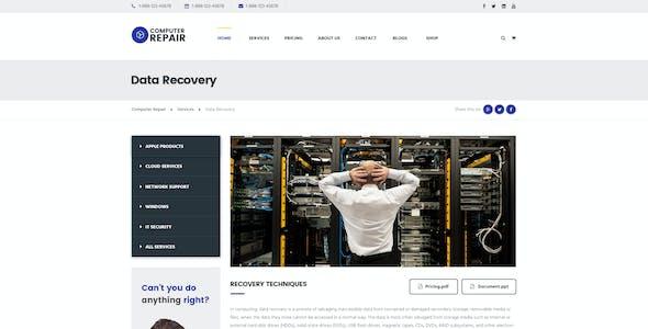 Computer Repair - PSD Templates for Computer Technicians