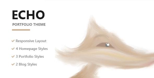 Echo - Creative Portfolio WordPress Theme - Portfolio Creative