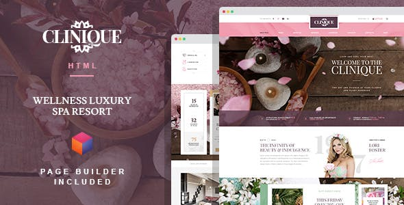 Clinique - Wellness Luxury Spa Resort HTML template with Builder