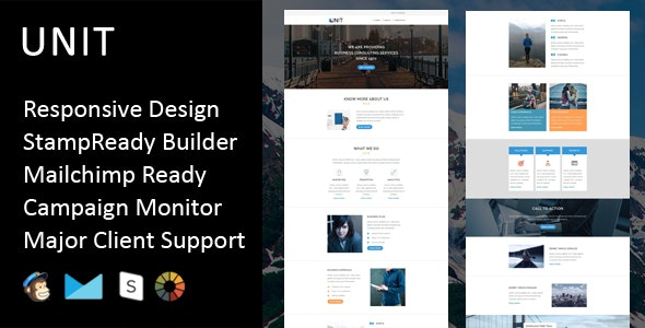 Unit - Multipurpose Responsive Email Template + Stampready Builder - Email Templates Marketing