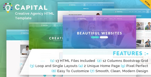 Capital Creative HTML Template - Business Corporate