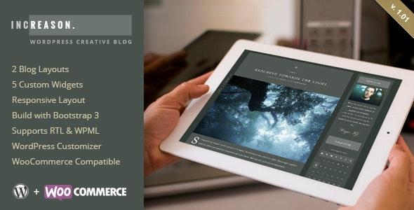 IncReason - Creative WordPress Blog Theme - Personal Blog / Magazine