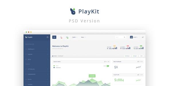 PlayKit - Web App PSD Template - Business Corporate