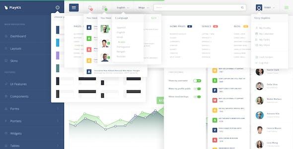 PlayKit - Web App PSD Template