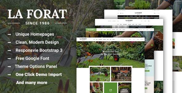 LaForat - Gardening and Landscaping WordPress Theme - WooCommerce eCommerce