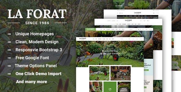 LaForat - Gardening & Landscaping WordPress Theme