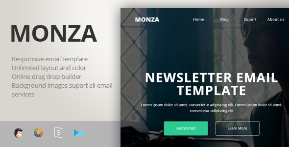 Monza - Multipurpose Responsive Email Template + Stampready Builder - Newsletters Email Templates