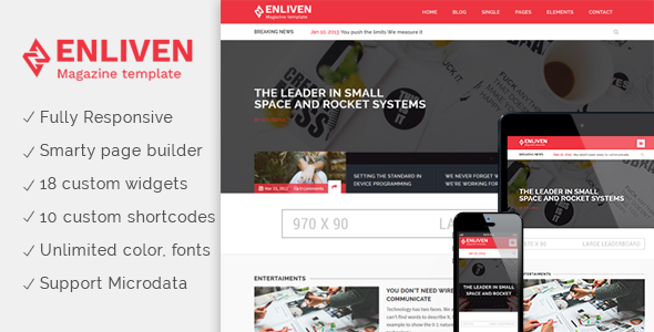The Enliven - Parallax Blog and Magazine WordPress Theme - Blog / Magazine WordPress