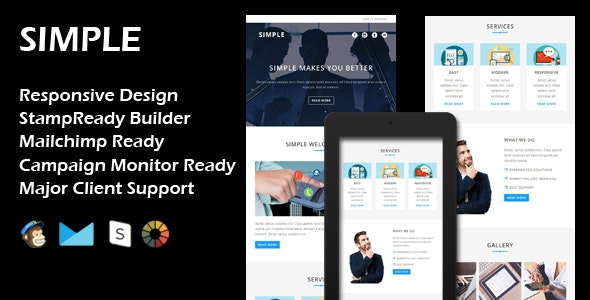 SIMPLE - Multipurpose Responsive Email Template - Email Templates Marketing