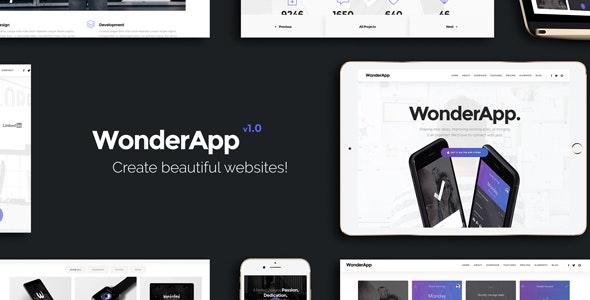 WonderApp - Responsive Multi-Purpose Landing Page - Creative Landing Pages