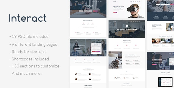 Interact - Multipurpose Landing Page Template - Creative PSD Templates