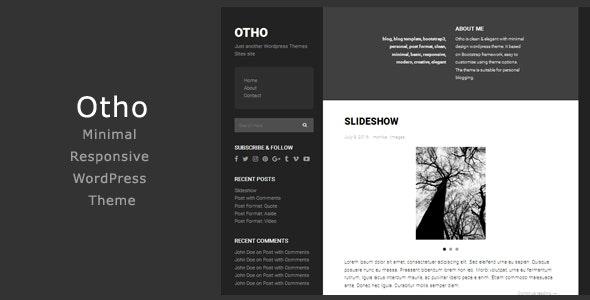 Otho - Minimal Responsive WordPress Theme - Personal Blog / Magazine