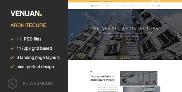 Venuan - Architecture PSD template - Experimental Creative