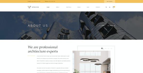 Venuan - Architecture PSD template