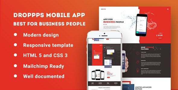 Droppps - Mobile App Theme - Apps Technology