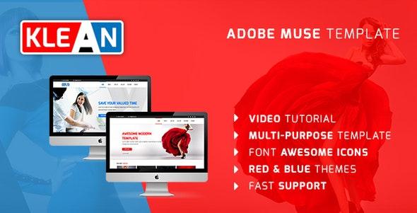 KLEAN | Multi-purpose Adobe Muse Template - Corporate Muse Templates