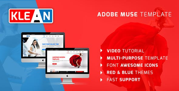 KLEAN | Multi-purpose Adobe Muse Template