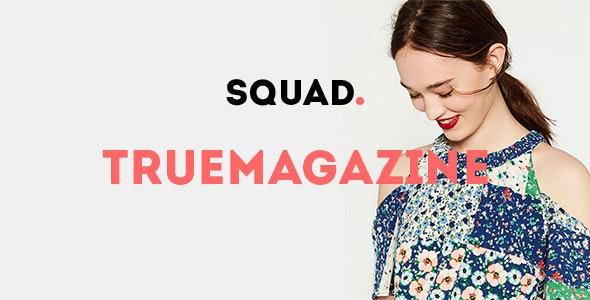 True Magazine - News/Editorial PSD - Personal PSD Templates