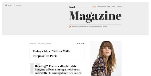 True Magazine - News/Editorial PSD