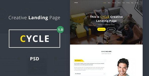 Cycle - Landing Page - PSD - Marketing Corporate