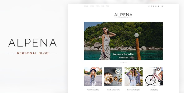 Alpena - Personal Blog PSD Template - Personal Photoshop