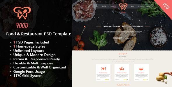 Food & Restaurant PSD Template - Food Retail