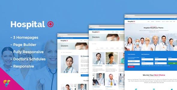 Hospital Medical Doctor WordPress Theme - Hospital+