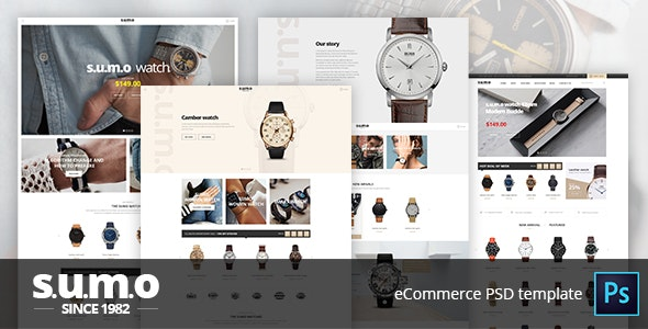 Sumo - Escommerce PSD Template - Retail Photoshop