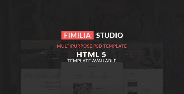FIMILIA STUDIO - CREATIVE PSD TEMPLATE - Corporate Photoshop