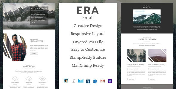 ERA - Creative Email Template + StampReady Builder - Email Templates Marketing