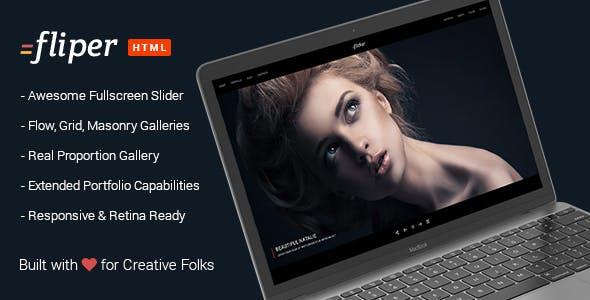 Photo Fullscreen Website Template - Fliper