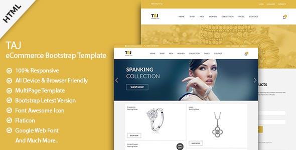 Taj - Jewelry HTML Template