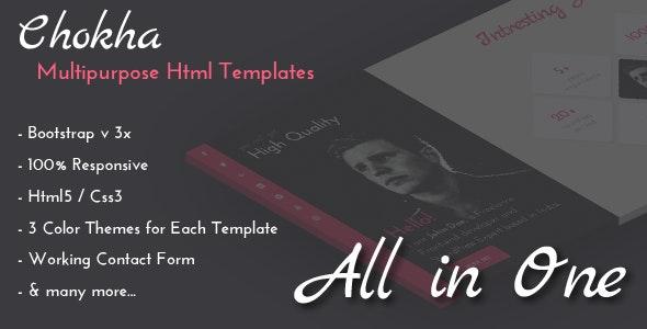 Chokha - Multipurpose HTML Template - Creative Site Templates