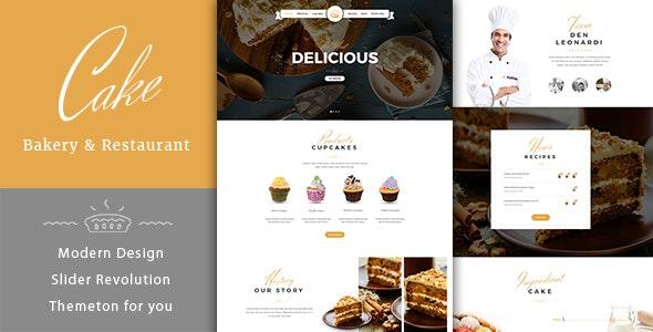 Cake - Easy & Slight Bakery HTML5 Template - Food Retail